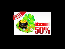 Abstract st patrick discount card template Stock Photos