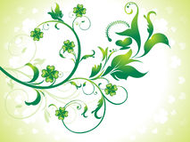 Abstract st patrick floral background Stock Images