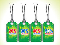 Abstract st patrick green sale tag Stock Photos