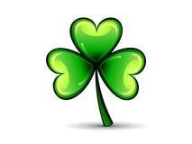 Abstract st patrick green shiny clover Royalty Free Stock Photography