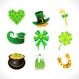 Abstract st patrick icon set Royalty Free Stock Images