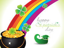 Abstract st patrick rainbow background Stock Photography