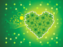Abstract st patrick's clover heart Stock Images