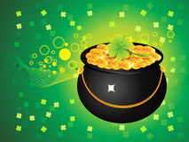 Abstract st patrick's pot Stock Photos