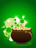 Abstract st patrick's pot. vector illustration Stock Photo