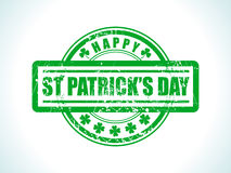 Abstract st patrick stamp Stock Photo