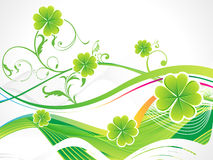 Abstract st patricks clover Royalty Free Stock Photography