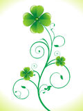 Abstract st patricks clover Royalty Free Stock Images