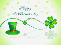 Abstract st patricks day card Royalty Free Stock Photography