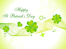 Abstract st patricks day card Royalty Free Stock Photo