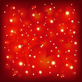 Abstract St Valentine sparkly red background Stock Images