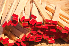 Abstract Stack of Construction Wood Royalty Free Stock Photo