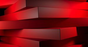 Abstract Stacked Boxes Closeup. 3D Rendering. Colored Abstract Stacked Boxes Closeup High Contrast. 3D Rendering Stock Photo