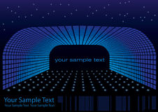 Abstract stage vector. With star elements and point lights Royalty Free Stock Photos