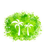 Abstract Stain Frame with Palm Trees Royalty Free Stock Image