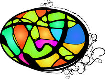 Abstract stained glass. Colorful illustration Royalty Free Stock Photos