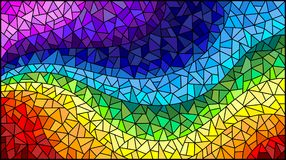 Stained glass illustration Abstract  background , the colored elements arranged in rainbow spectrum Stock Image