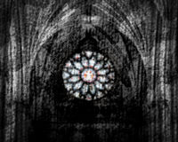 Abstract Stained Glass Blurred Background Stock Photo