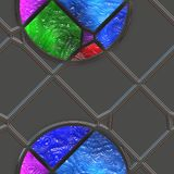 Abstract stained glass- metal grate Royalty Free Stock Photo