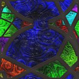 Abstract stained glass- metal grate Royalty Free Stock Photography