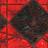 Abstract stained glass- metal grate Royalty Free Stock Photos