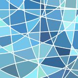 Abstract  stained-glass mosaic background. Blue and gray Stock Image