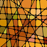 Abstract stained-glass mosaic background. Abstract orange stained-glass mosaic background Royalty Free Stock Photography
