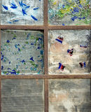 Abstract Stained Glass Window Stock Photo