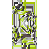 Abstract stained glass window. Vector olive stained glass window Stock Image