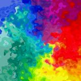 Abstract stained pattern background in full specrum rainbow colors with black outlines  Royalty Free Stock Images