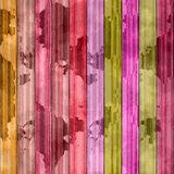 Abstract stained planks vibrant colors background Stock Image
