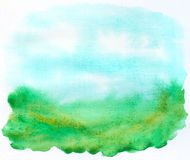 Abstract stains landscape Royalty Free Stock Photo