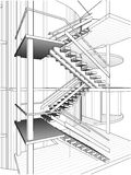 Abstract Stair Constructions Of Line Vector Stock Images