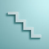 Abstract stairs or steps concept on light green pastel color wall background Stock Photo