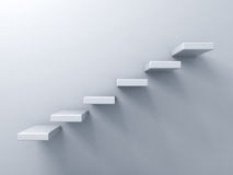 Abstract stairs or steps concept on white wall Stock Images