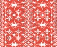 Abstract stammenpatroon, herhaalde etnische elementen, Royalty-vrije Stock Afbeeldingen