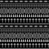 Abstract stammenpatroon, herhaalde etnische elementen, Royalty-vrije Stock Foto