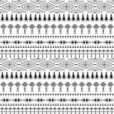 Abstract stammenpatroon, herhaalde etnische elementen, Stock Afbeelding