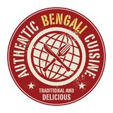 Abstract stamp or label with the text Authentic Bengali Cuisine. Written inside, vector illustration Stock Images