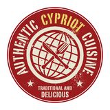 Abstract stamp or label with the text Authentic Cypriot Cuisine. Written inside, vector illustration Royalty Free Stock Image