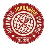 Abstract stamp or label with the text Authentic Jordanian Cuisin. E written inside, vector illustration Stock Images