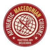 Abstract stamp or label with the text Authentic Macedonian Cuisi. Ne written inside, vector illustration Royalty Free Stock Photography