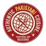 Abstract stamp or label with the text Authentic Pakistani Cuisin. E written inside, vector illustration Royalty Free Stock Photography