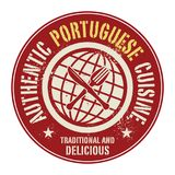 Abstract stamp or label with the text Authentic Portuguese Cuisi. Ne written inside, vector illustration Stock Photography