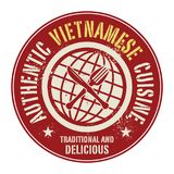 Abstract stamp or label with the text Authentic Vietnamese Cuisi. Ne written inside, vector illustration Stock Photography