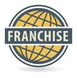 Abstract stamp or label with the text Franchise. Written inside, vector illustration Stock Photography