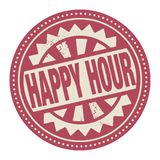 Abstract stamp or label with the text Happy Hour written inside. Vector illustration royalty free illustration