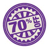 Abstract stamp or label with the text 70 percent off written ins. Ide, vector illustration royalty free illustration