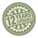 Abstract stamp or label with the text 12 years experience writte. N inside, vector illustration Stock Image