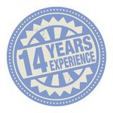 Abstract stamp or label with the text 14 years experience writte. N inside, vector illustration vector illustration